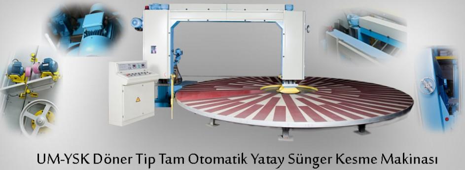 UM-YSK Döner Tip Tam Otomatik Yatay Sünger Kesme Makinası